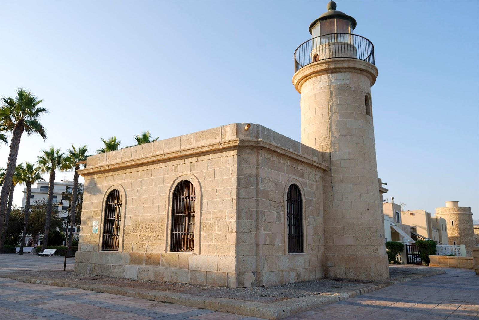 almeria beach spain roquetas mar coast old town lighthouse