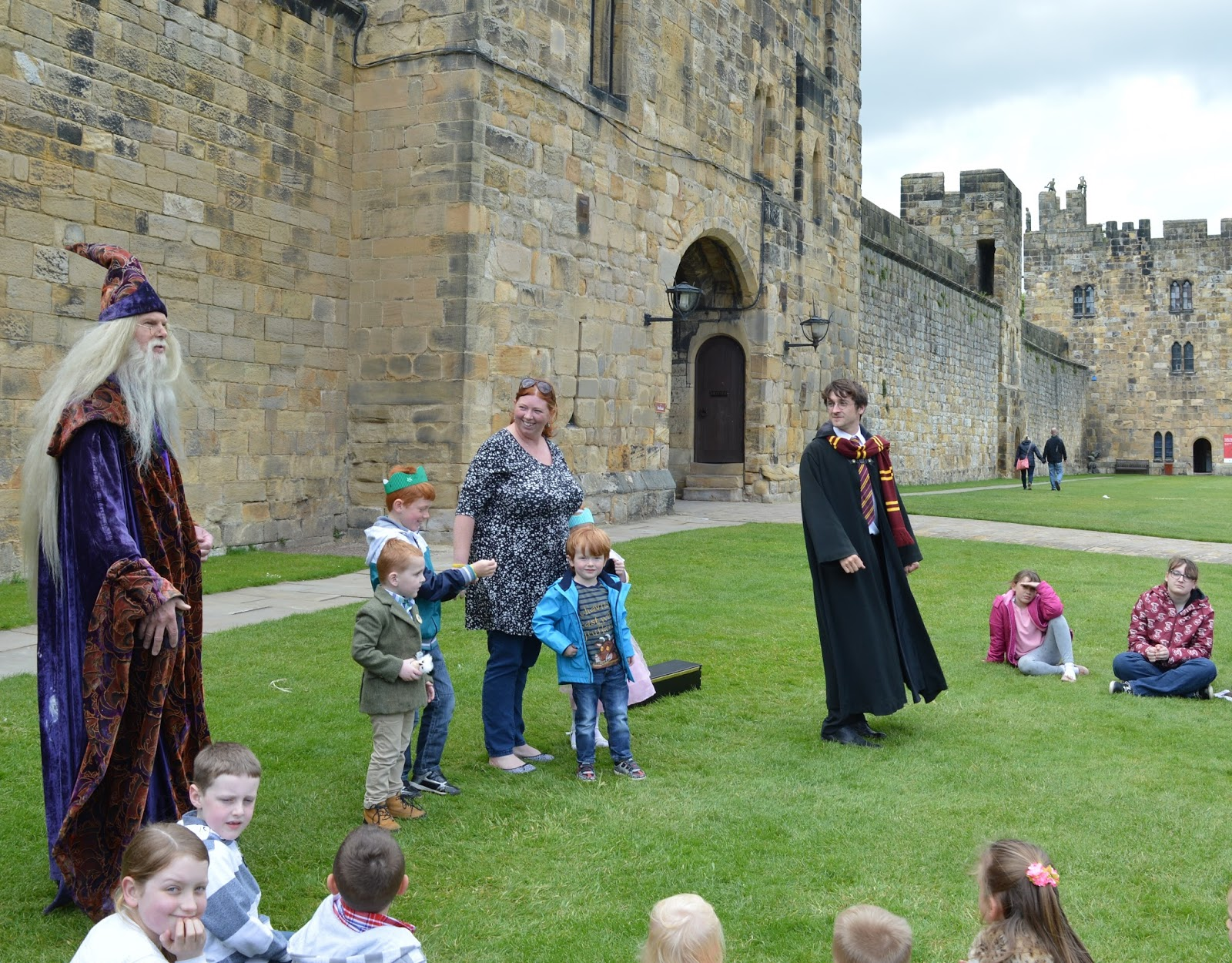 Harry Potter and Dumbledore magic show at Alnwick Castle