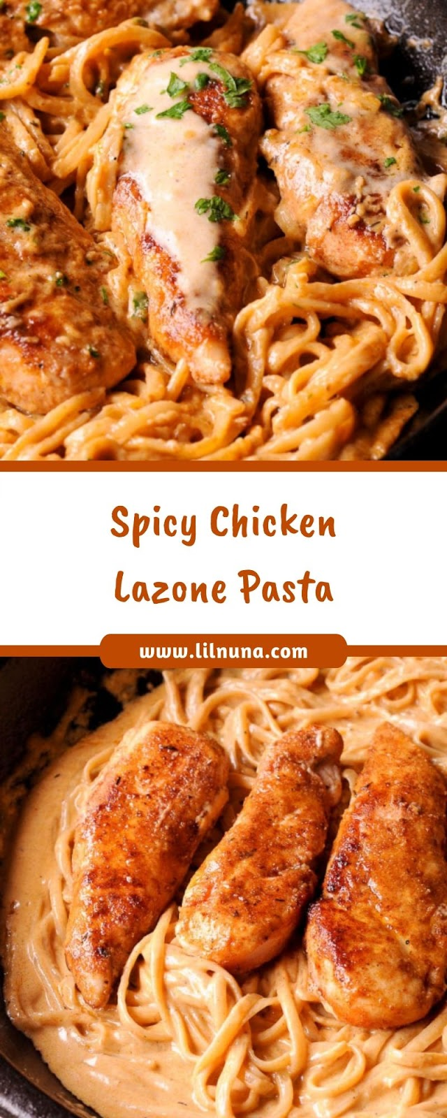 Spicy Chicken Lazone Pasta