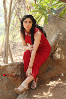 Telugu Actress Zahida Sam Latest Pos in Red Gown at RF Films New Movie Opening  0309.JPG