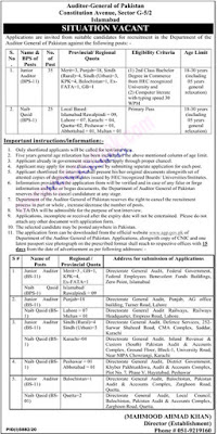 Auditor-General-of-Pakistan-Jobs-2021