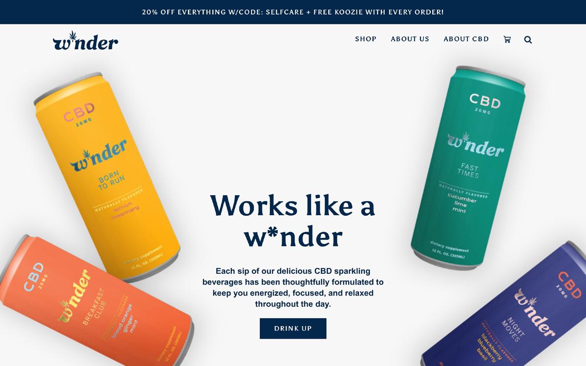 Web design example by Nunito Sans Font