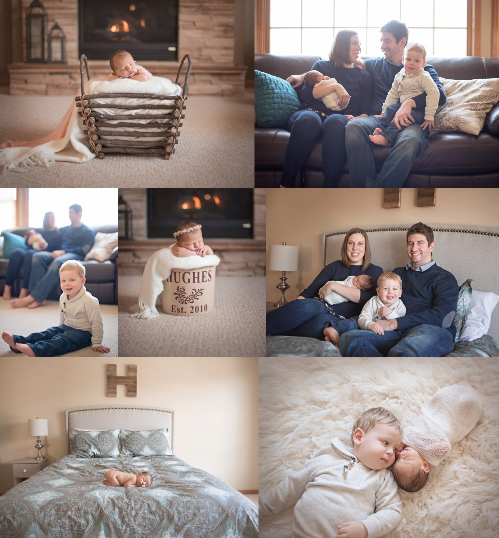 Batavia, IL Lifestyle In Home newborn photos