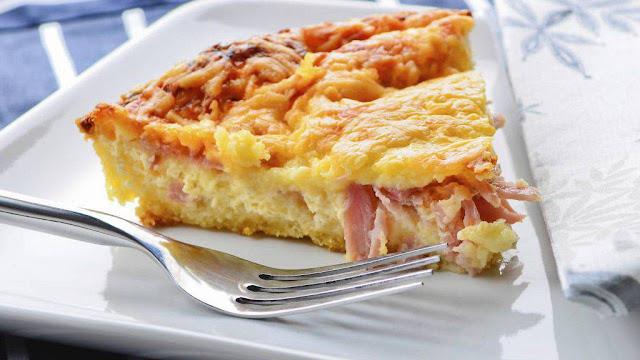 """Torta salata di Patate, Cotto e Mozzarella """"senza Glutine"""""""