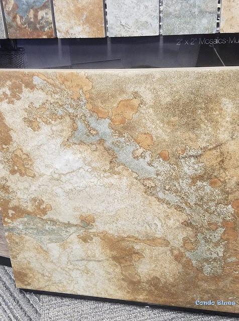 brown porcelain slate bathroom floor tile