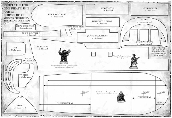 Pijlie s wargames blog heave to building a pirate ship for Cardboard pirate ship template