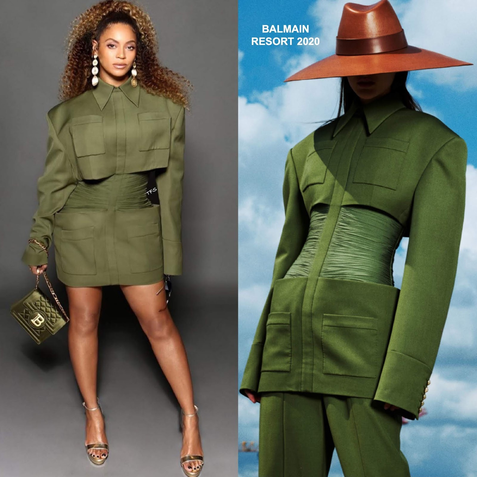 instagram style beyonce in balmain at