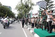 Panglima TNI Bersama Kapolri Pimpin Apel Pengamanan Nataru