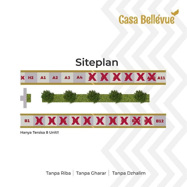 siteplan-cassa-bellevue-residence-town-house-syariah-di-bintaro-jakarta-selatan