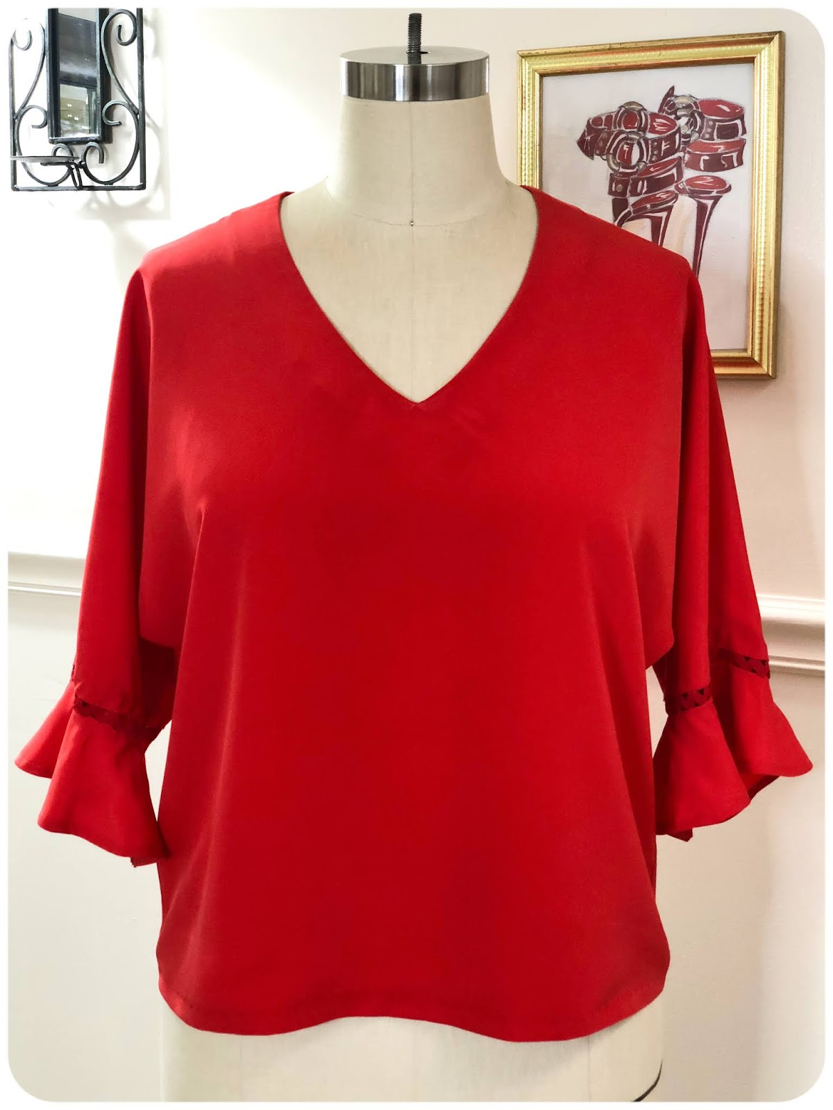 Simplicity 8694 - A Cute Top with Floating Rick Rack Trim! -- Erica Bunker DIY Style!