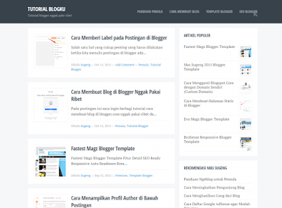 Blogku - Newest Simple Blogger Template