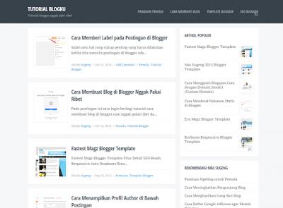 Blogku - Newest Simple Blogger Template