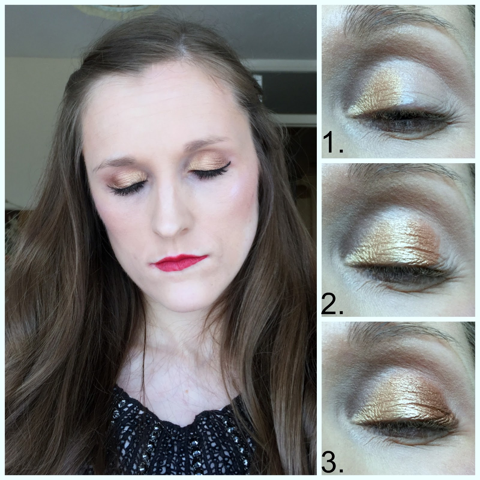 tarte leave your mark eyeshadow palette smokey gold look
