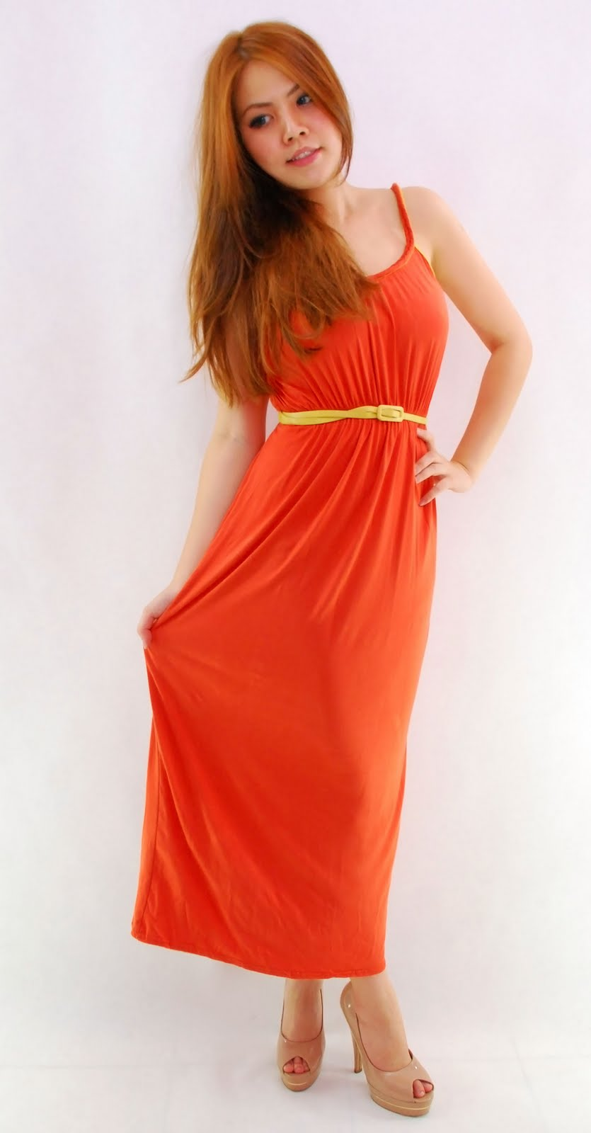 ece4a0bca85 Plain colored maxi dress with braided strap   neckline. Colors available   Green