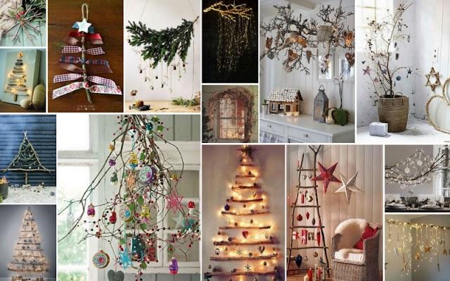 Χριστουγεννιάτικες Ιδέες - Κατασκευές από Κορμούς - Κλαδιά