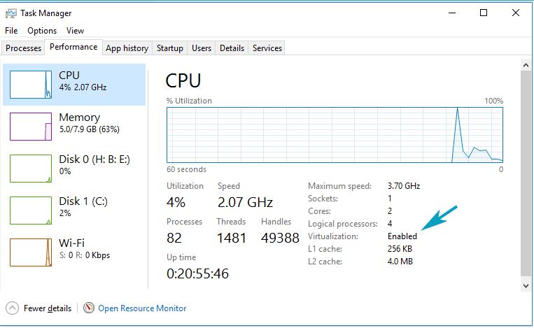 Mengaktifkan Fitur VT Processor