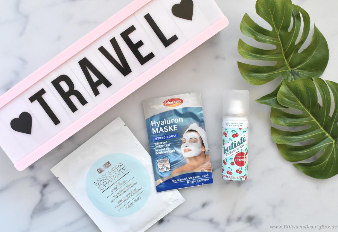 Reise Essentials & Must Haves - SOS Produkte - Maske, Trockenshampoo und Pickel-Roll-On