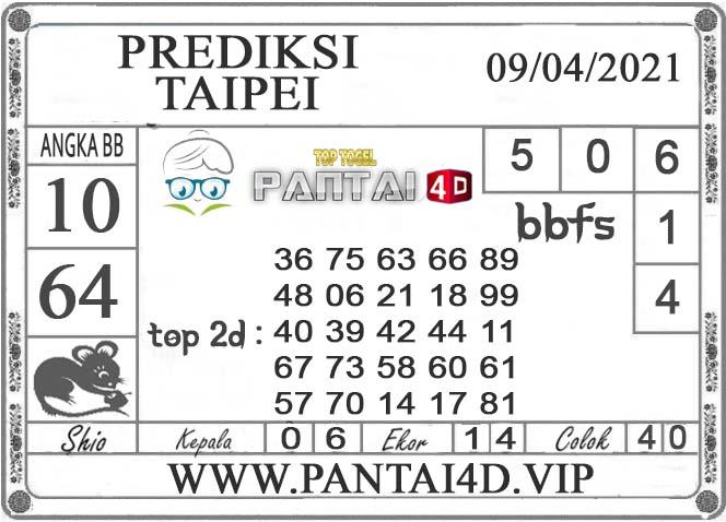 PREDIKSI TOGEL TAIPEI PANTAI4D 09 APRIL 2021