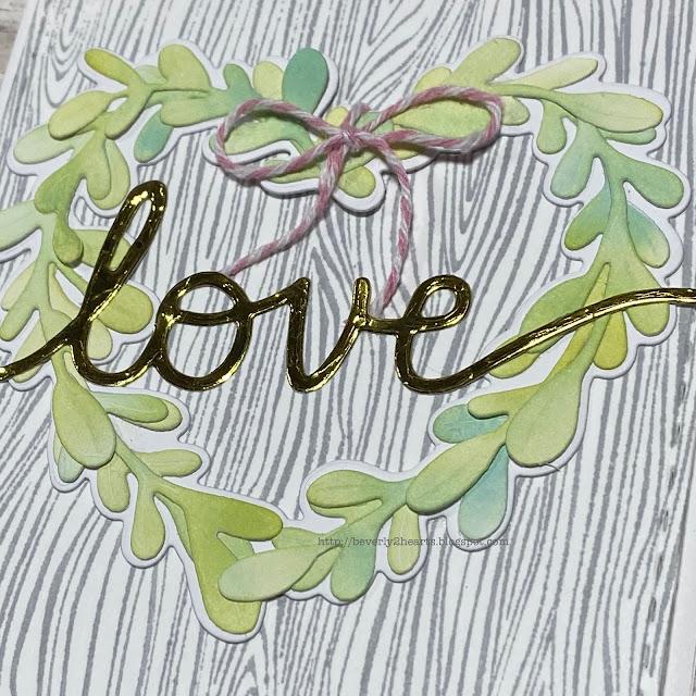 Boxwood Heart Detail Die