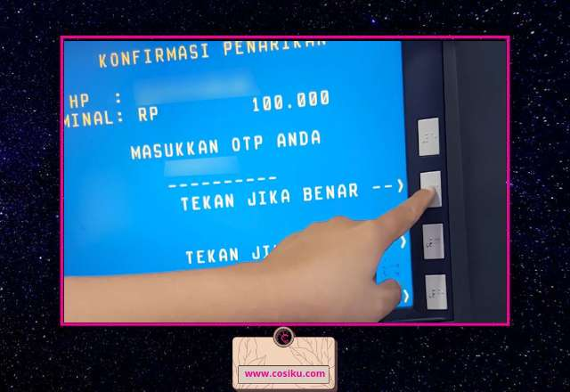 Cara Tarik Uang Tanpa Kartu ATM di Mesin Atm BNI