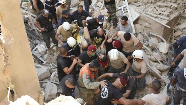 Explosión de Beirut en plena sanciones agrava COVID-19 en El Líbano