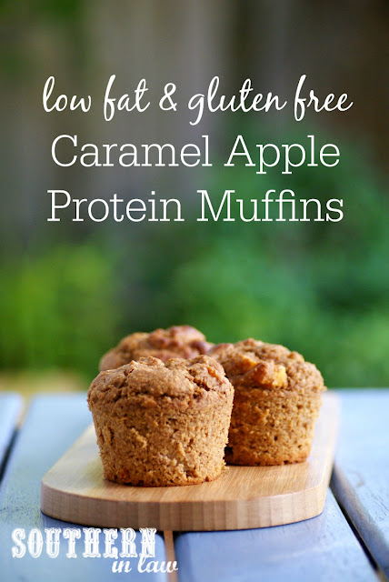 Gluten Free Caramel Apple Protein Muffins  low fat, gluten free, healthy, high protein, refined sugar free, clean eating friendly, protein powder recipes