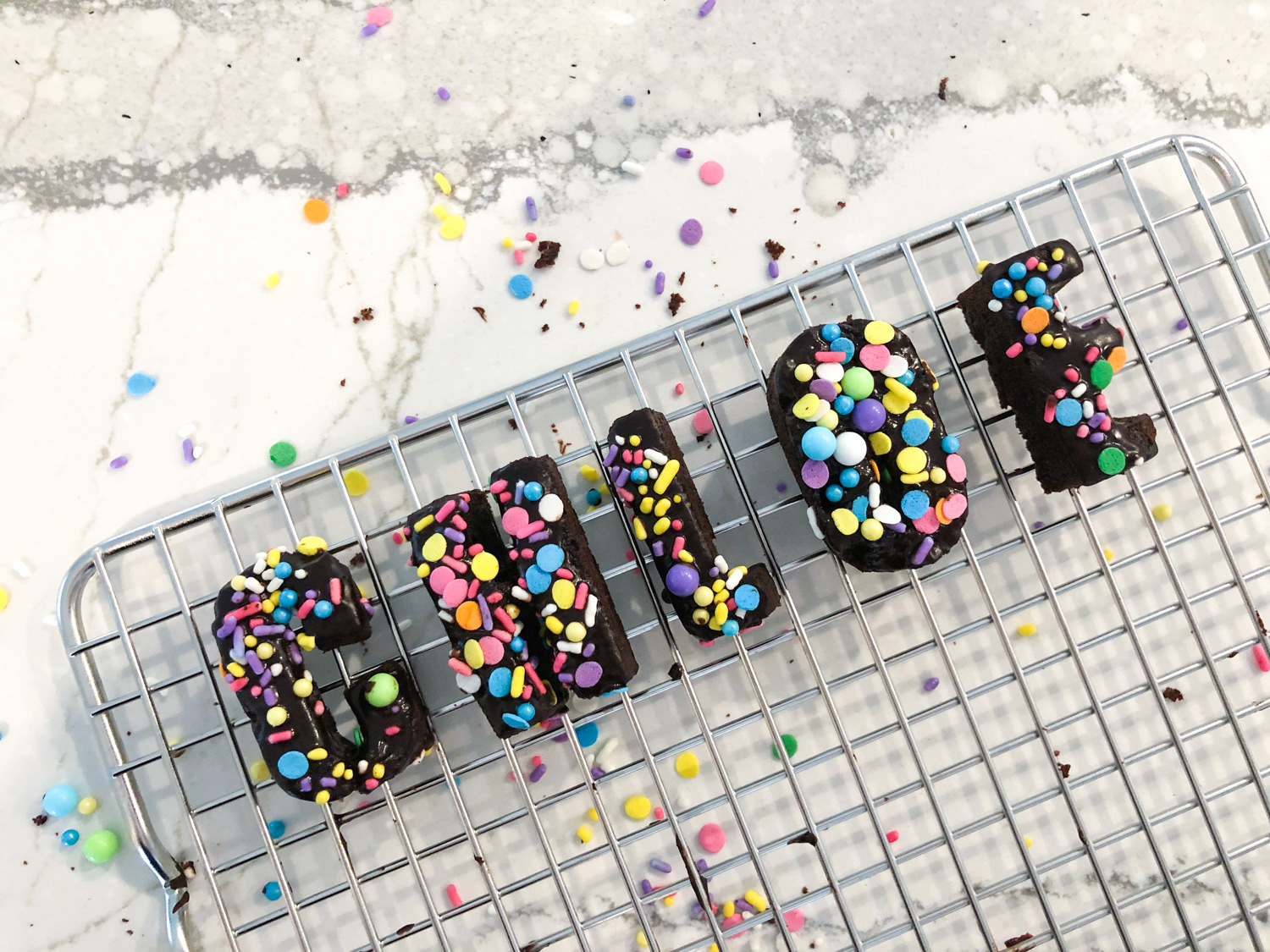 DIY Letter Donuts by The Celebration Stylist