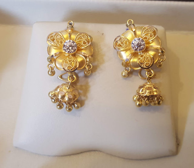 Latest light weight gold earrings with price