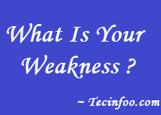 What Is Your Weakness? The Irrelevant Weakness