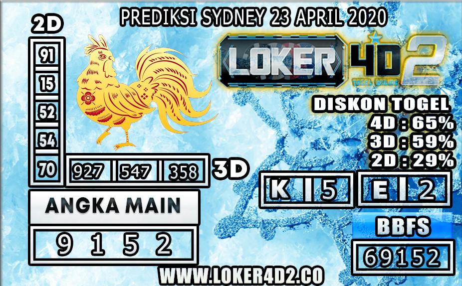 PREDIKSI TOGEL SYDNEY LOKER4D2 23 APRIL 2020