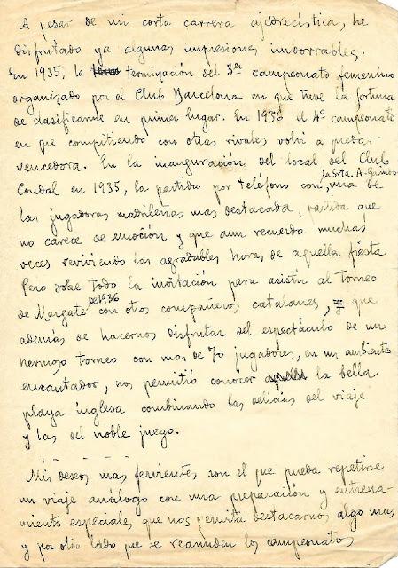 "Primera página de dicho manuscrito ""misterioso"" de Gloria Velat"