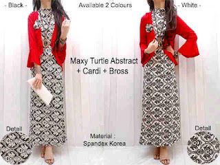 Maxi Turtle Cardi Merah fit to L