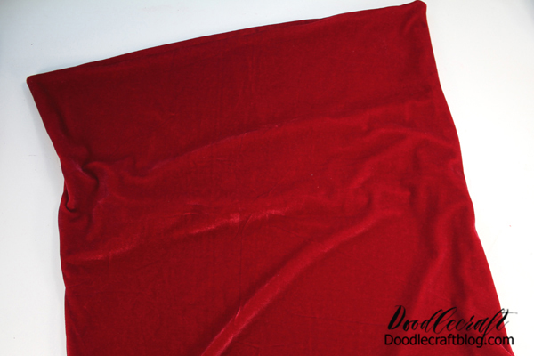 Once sewn, flip it right side out. Use a blunt pencil to push out the corners gently.