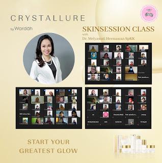 Skin session  bersama crystallure dan MBC