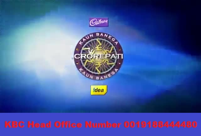 Jio KBC Head Office Numbers are 0019188444480,0019188444474