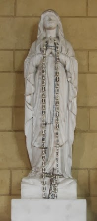Memorial statue in Chapel at St. Mary's Roman Catholic Cemetery in London.