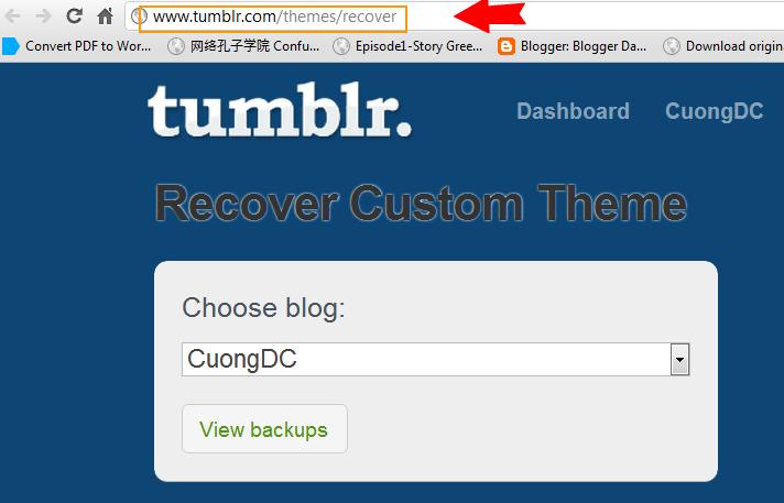 千里独行: [TUMBLR] - Recover Custom Theme – How to get your