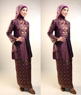 Kebaya Muslimah Modern Model Terbaru Motif Songket