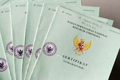 sertifikat tanah kavling