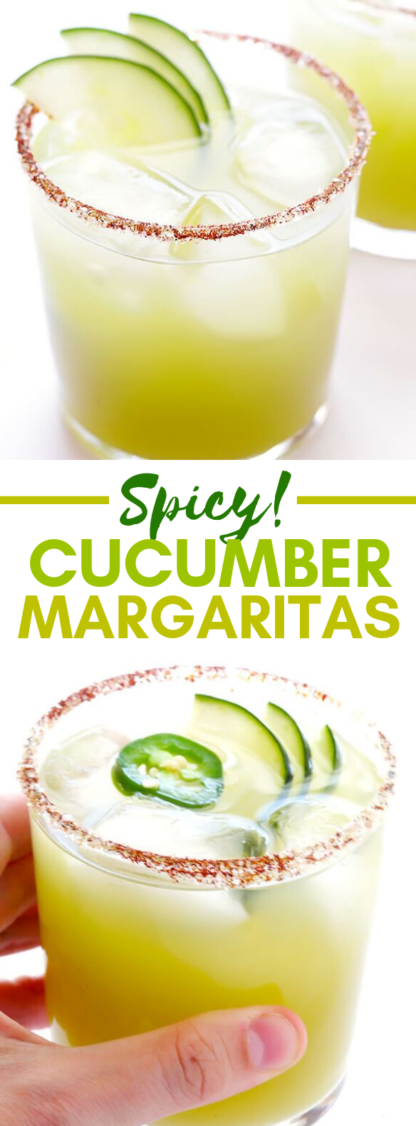 SPICY CUCUMBER MARGARITAS #drinks #cocktail