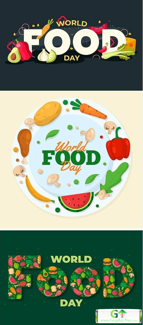 Delicious foodstuff for world food day event