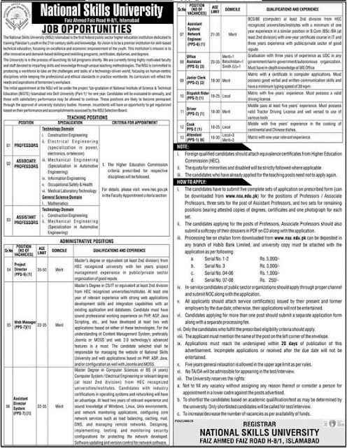 national-skills-university-nsu-jobs-2021-application-form