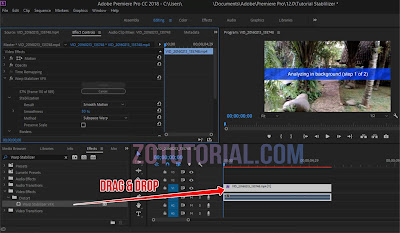 Proses Edit Video (Shaky) dengan Warp Stabilizer - Adobe Premier Pro