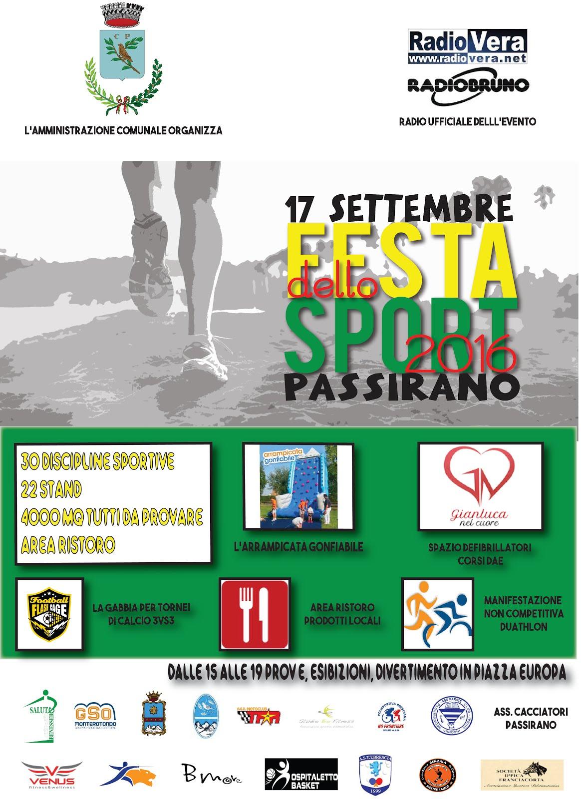 Festa Dello Sport Di Passirano 2016