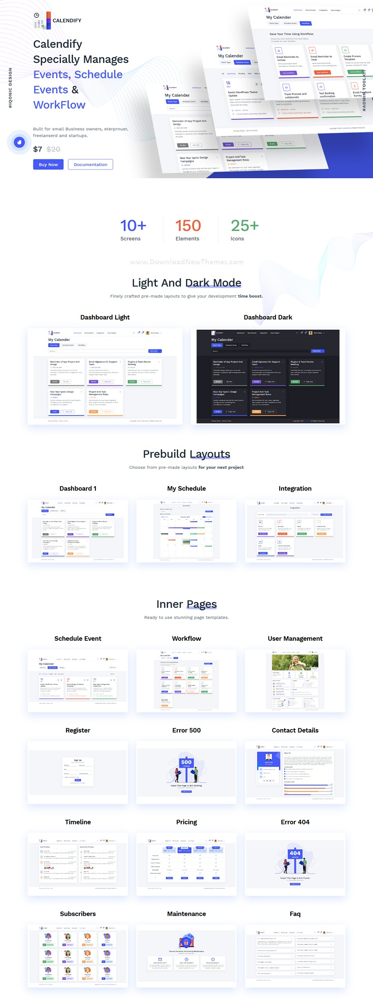 Appointment and Calendar Schedule Admin Template