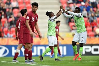 Nigeria's Flying Eagles thrash Qatar in World Cup opener