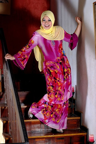 pose model hijab hunting