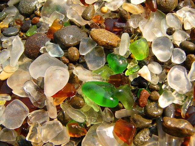 Glass Beach near Fort Bragg California