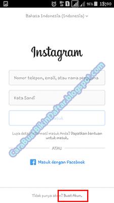 Daftar Instagram Baru - Buat Akun Instagram Baru Lewat Hp Android Terbaru