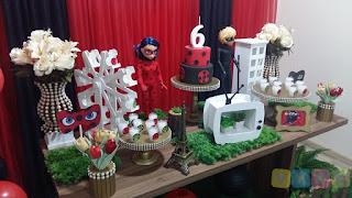 Decoração festa infantil Miraculous Ladybug Porto Alegre